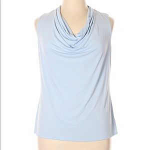 NY Collection Sleeveless Top Cowl Neck